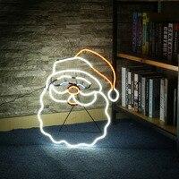 ICOCO Yeni Neon Burcu Gece Lambası Noel Baba Şekil Tasarım Odası Duvar Süslemeleri Ev Aşk Süs Kahve Barı Duvar El Sanatları