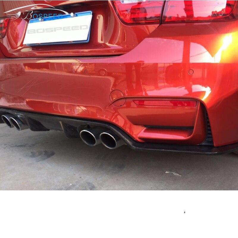 Convient pour BMW série 3 F30 F35 MT MP fibre de carbone diffuseur arrière pare-chocs lèvre arrière aileron arrière