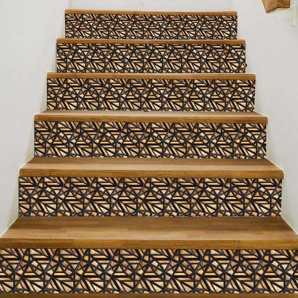Арабская плитка лестницы Декор наклейки самоклеющиеся виниловые наклейки для лестницы 3D DIY лестницы обновления ПВХ наклейка лестница росписи 318 Вт