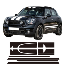 Red Racing Stripes Hood Trunk/Rear Decal Sticker for MINI Cooper Countryman 2013-2016