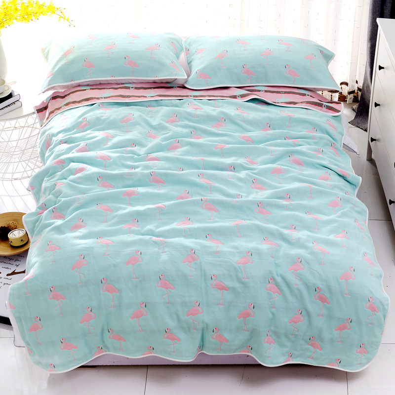 Baby Blanket Baby Summer Bedding Sofa Quilt 100% Cotton Baby Blanket 6 Layer Muslin Swaddle For Infant Baby 120*150cm /150*200cm