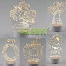 Intelligent dimming lamp led small night light creative USB 3D three-dimensional living room study bedroom bedside lamp gift