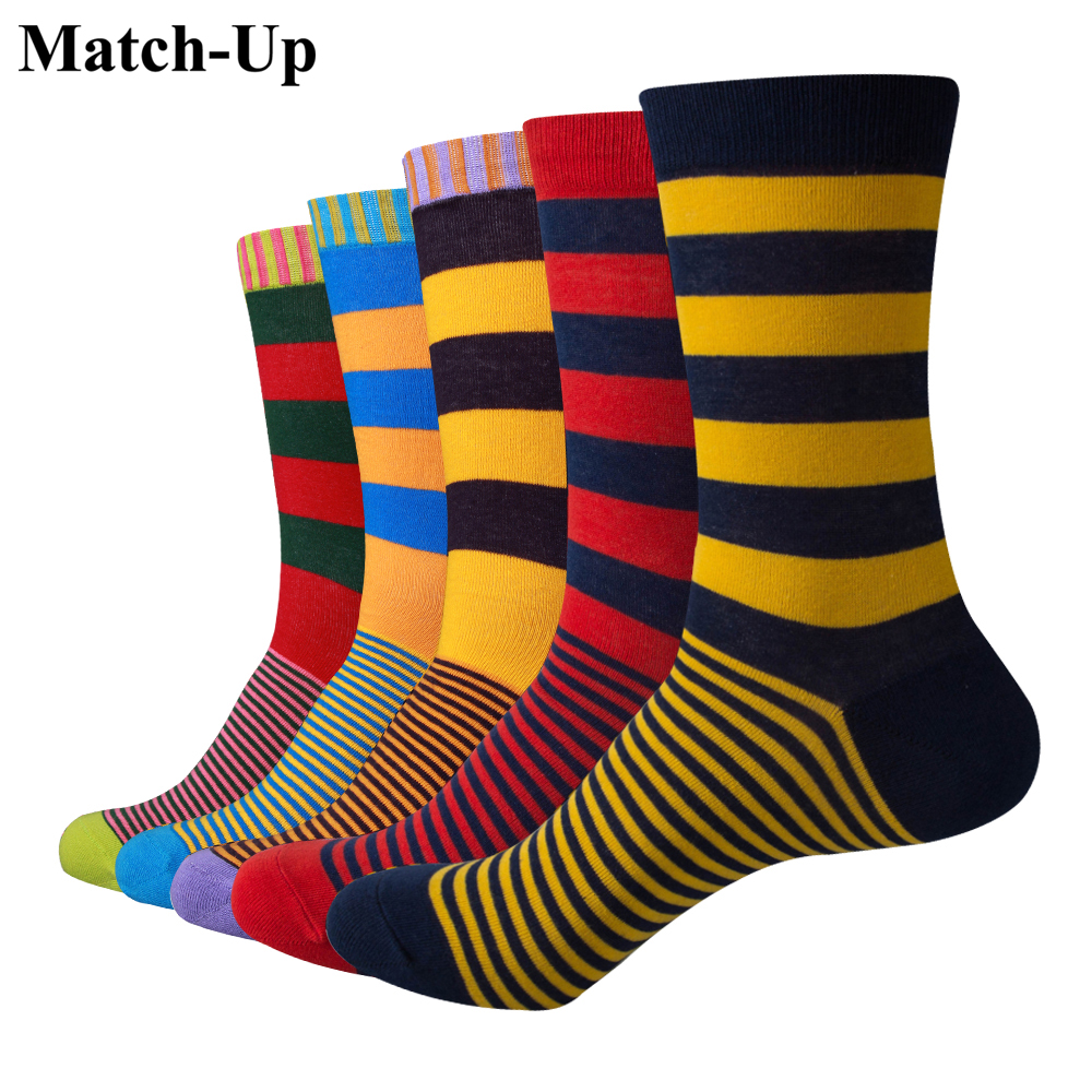 Match-Up Casual Mens Cotton Socks Chromatic Stripe Of Socks Man With The Final Design Clothing Fashion Style