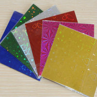 Sale 900pcs 10cm*10cm Origami Handmade paper Laser Color pattern shining Mix 5 colors romantic for lovers gift