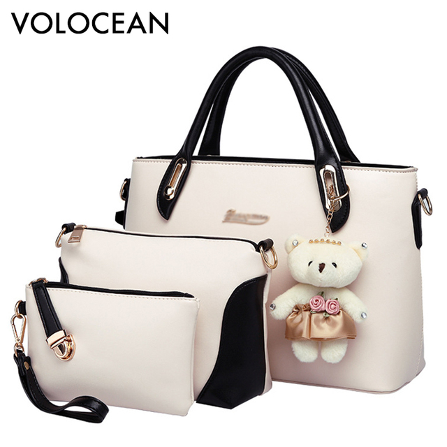 bee2b426a83 US $24.54 40% OFF|High Quality Casual Bag Ladies Women Bag Hot Sale 2017  Fashion Women Messenger Bags bags Women's Handbags 3 pieces-in Shoulder  Bags ...