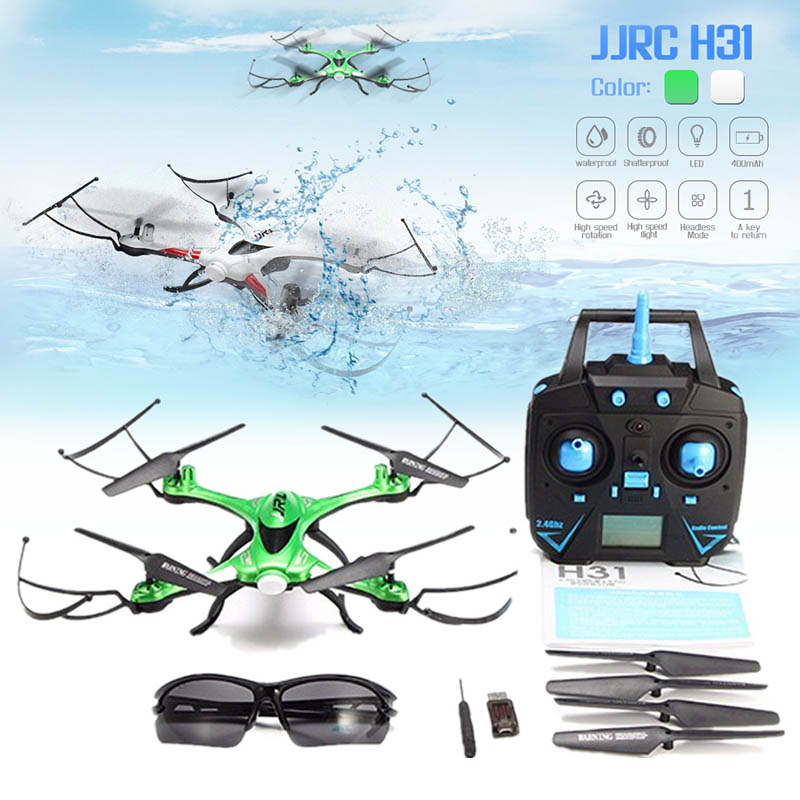 JJR/C JJRC H31 Étanche Anti-crash 2.4g 4CH 6-Axe Quadcopter Sans Tête Mode LED RC drone Jouet Super Combo RTF VS H37