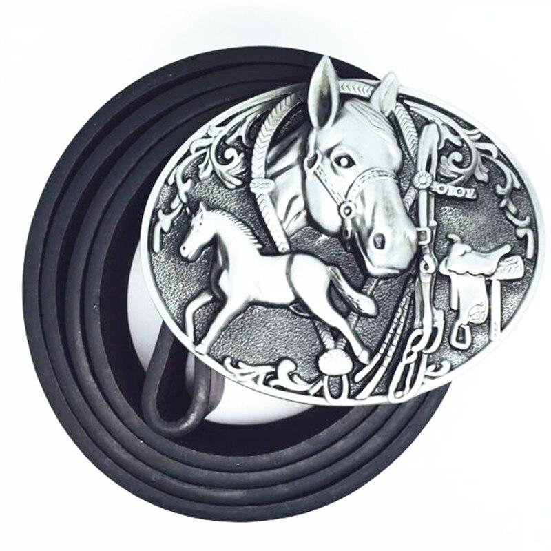 Los vaqueros de la hebilla de cinturón oeste caballo pu cinturón resistente  al desgaste hebilla de cinturón de aleación de zinc 4.0 cm 7fdd509cd8de