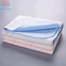 Herbabe Baby Diaper Changing Mat 4 Layers 100% Cotton Waterproof Pads Kids Change Play Cloth Diapers New
