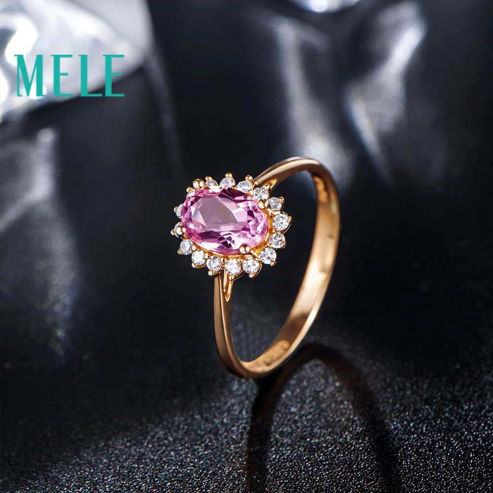 Natural red tourmaline 18K gold diamonds ring for women and girl,oval cut fashion and beaut wiht high quality недорго, оригинальная цена