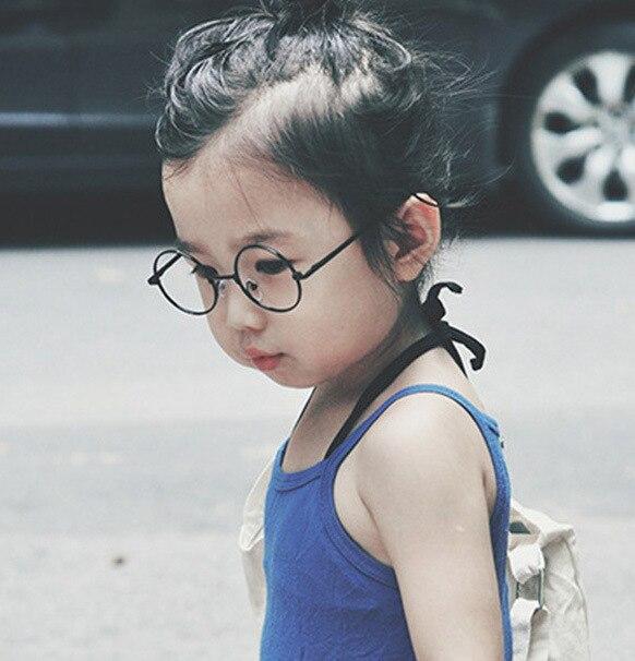2018 Mode Runde Kinder Brille Rahmen Baby Jungen Mädchen Brillen Rahmen Vintage Kinder Klare Linse Optische Spektakel 2-7 Alt QualitäTswaren