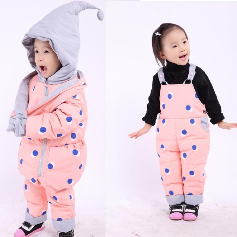 Nouveau bébé hiver manteau ensemble bébé filles bébé garçons doudoune vêtements chauds vêtements pour enfants 0-4 ans bébé manteau ensemble