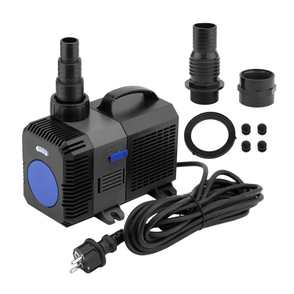 80W Variable Frequency Fish Tank Pond Aquarium Submersible Water Pump For Car Water Drawing CTP-10000 EU Plug free shipping clb series submersible water pump for pond