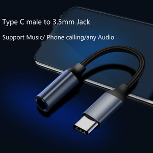 Image 3 - 2pcs together adapter Type C 3.5 Jack USB C to 3.5mm AUX Headphones Adapter For Huawei mate 20 P30 pro Xiaomi Mi 6 8 Audio cable