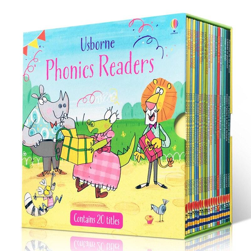 20 Books/set Usborne Phonics Readers English Children's Picture Book Enlightenment Warm Parent-child Storybook Reading