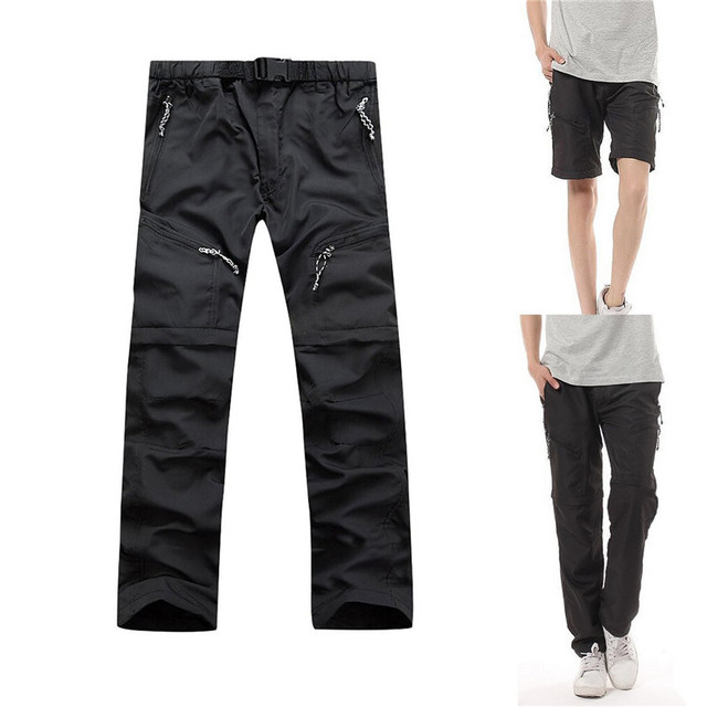 LANBAOSI 2 In 1 Mens Waterproof Convertible Pants
