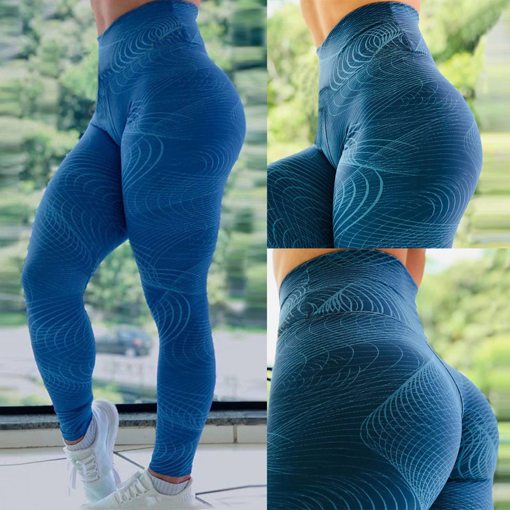 Fashion Push Up Leggings Women Workout sprots Slim Leggings Polyester V-Waist Jeggings Women Pencil Pants Leggings  7.12(China)