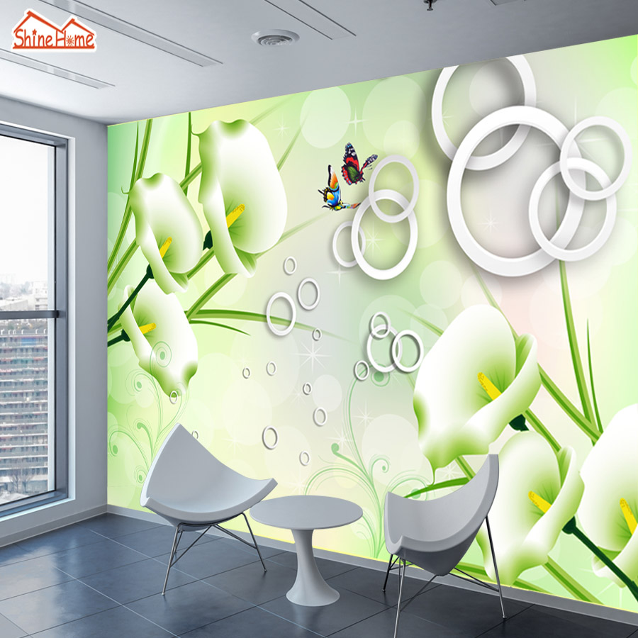 online buy wholesale 3d flower wallpaper for home decor from china