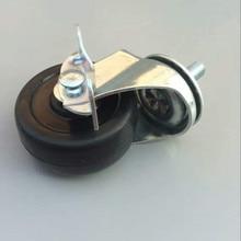 4PCS 2 inch light duty rubber wheel caster  Roller Moving Furniture Caster with brake caster стоимость