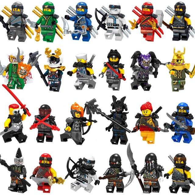 2019 NOVO Filme Figuras Blocos de Construção Airjitzu NinjagoING Garmadon Harumi Lloyd Cole Jay Kai Zane Nya LegoING NinjagoING Brinquedos