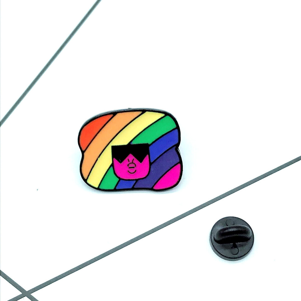 Dos Desenhos Animados De Steven Universo Granada Emblema Pino De
