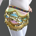 Belly Dance Costume Hip 328pcs Golden Coins Egyptian Nile Belly Dance Belt 2 Colors