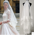 Hot Sale 1.5 Meter Long Tulle Wedding Accesories Lace Veil Bridal Veils  Cathedral Wedding Veil With Comb