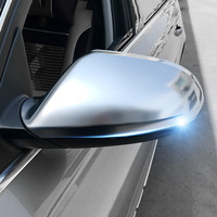 For Audi A3 A4 A5 A6 A7 A8 Q3 Q5 Q7 2010 2018 2019 Chrome Matte Side Back Rearview Mirror Caps Covers Without Side Assist 2pcs