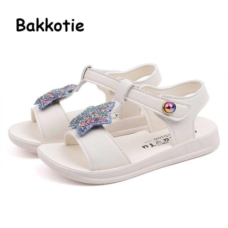Bakkotie новые летние платье принцессы милые мягкие сандалии для маленьких девочек
