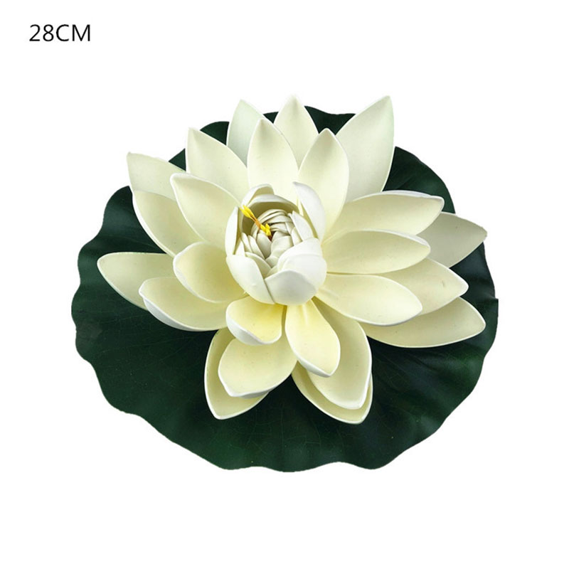 Artificial Fake Lotus Flower EVA Lotus Flowers Water Lily Floating Pool Plants Wedding Garden Home Decoration Sztuczne Kwiaty