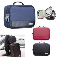 Portable Digital Accessories Gadget Devices Organizer USB Cable Charger Tote Case Storage Bag Travel Organizador
