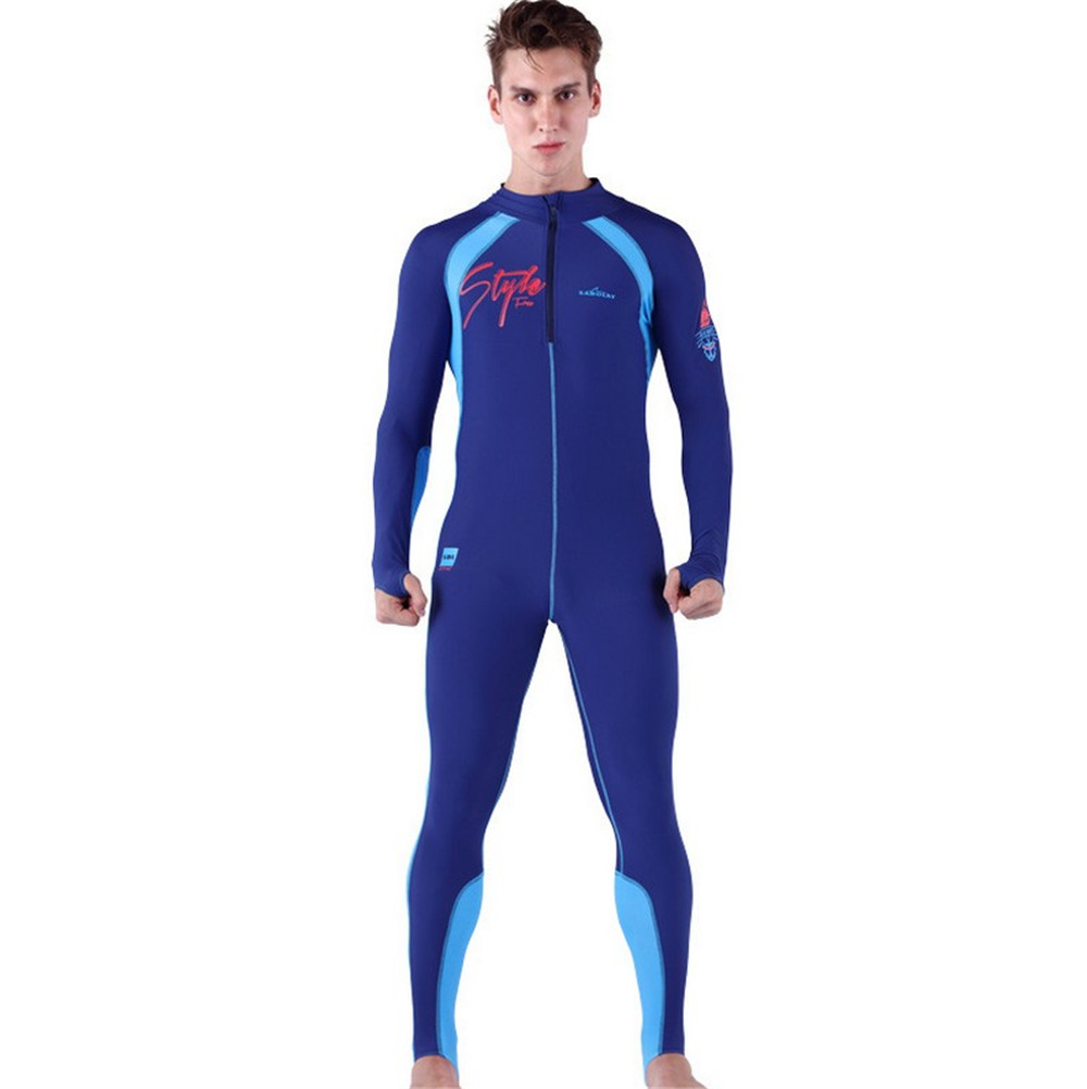 SABOLAY swimsuit conservative Siamese men s and women s swimming suit big code to cover the