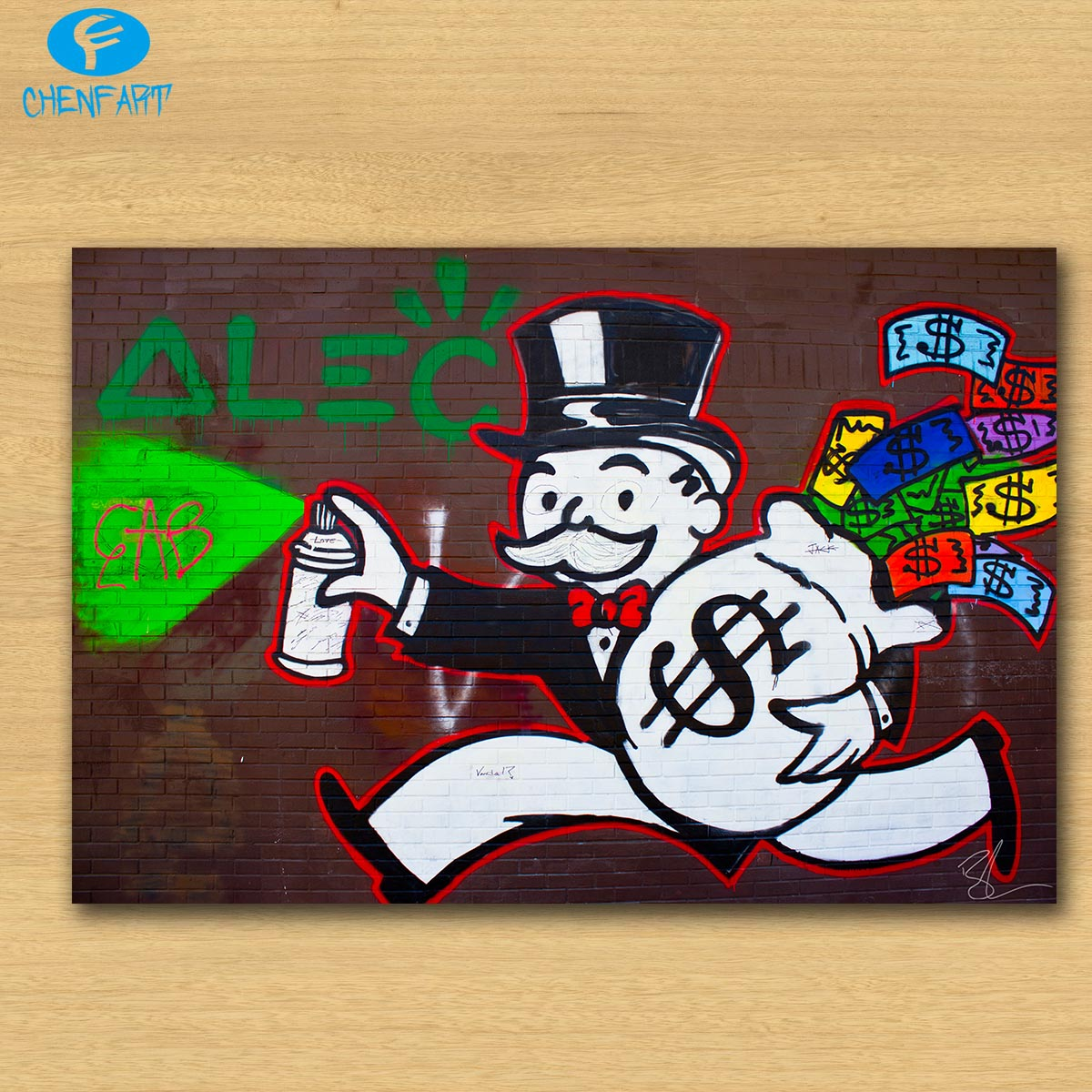 Graffiti wall art bedroom - Alec Monopoly Melrose Ave Wall Street Graffiti Print Canvas For Wall Art Decoration Oil Painting Wall Painting Picture No Frame In Painting Calligraphy
