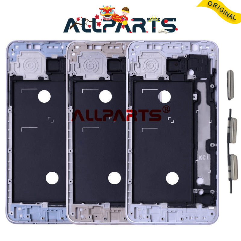 with Side Buttons Gold Silver Gray Housing For SAMSUNG Galaxy J7 2016 Middle Frame Chassis J710 J710F Replacement