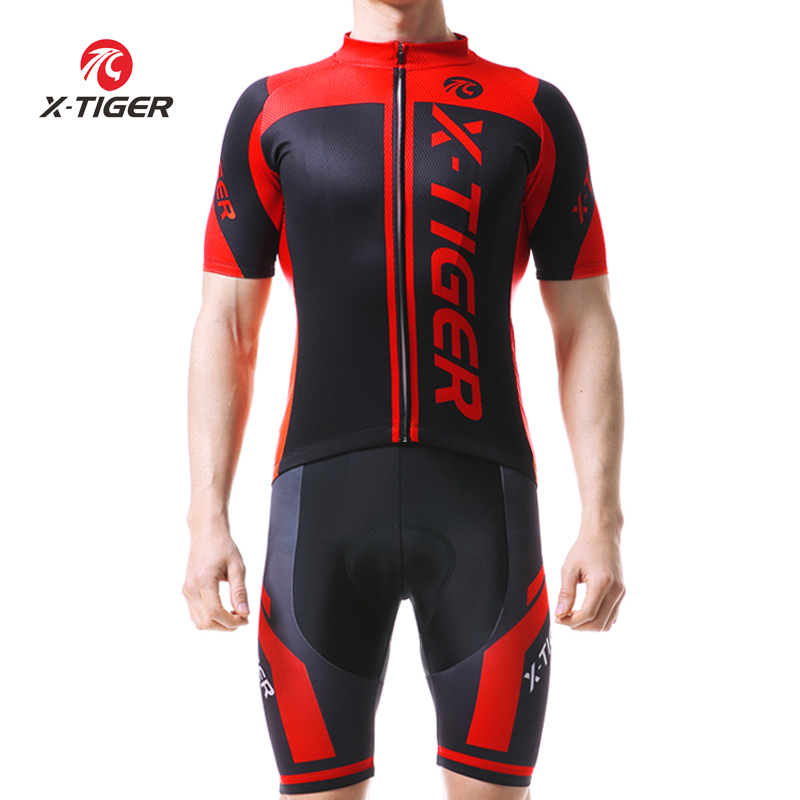 X-Tiger 2017 Cycling Jersey Set For Mans Summer MTB Bicycle Clothing Maillot Roupas Ciclismo Bike Clothes Sportwear Cycling Set breathable cycling jersey summer mtb ciclismo clothing bicycle short maillot sportwear spring bike bisiklet clothes ciclismo