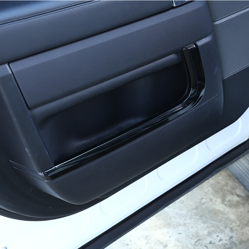 For Landrover Range Rover Sport RR Sport 2014-2017 Car Styling ABS Chrome Gloss Black Inner Door Decoration Strip Trim Accessory 4pcs carbon fiber style abs plastic inner door decoration cover trim for landrover range rover sport rr sport 2014 2017 new