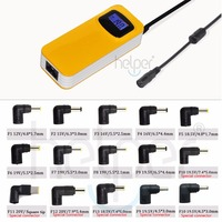 90W Colorful Yellow Color Universal Power Supply With LCD Screen 13 Tip USB Output For IPad