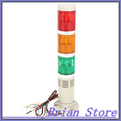 Red Yellow Green Industrial Signal Tower Stack Indicator Light Bulb DC 12V dc 12v pt1 16 thread red pilot lamps indicator signal light 5pcs