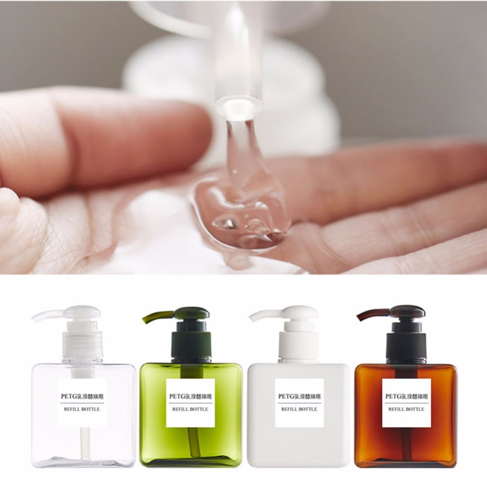 150ml 250ml Cosmetic Bottle Large Capacity Pressure Type Square Buy 2 Shower Cream Botol Get Free Refill Hotel Bathroom Convenient 8 Colors In Refillable Bottles From