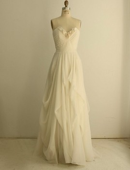 Long Chiffon Ruffle Bridesmaid Gown Red/Navy Blue/Peach/Ivory/Champagne/Silver/Yellow/Hunter/Pink Hot Chiffon Bridesmaid Dresses