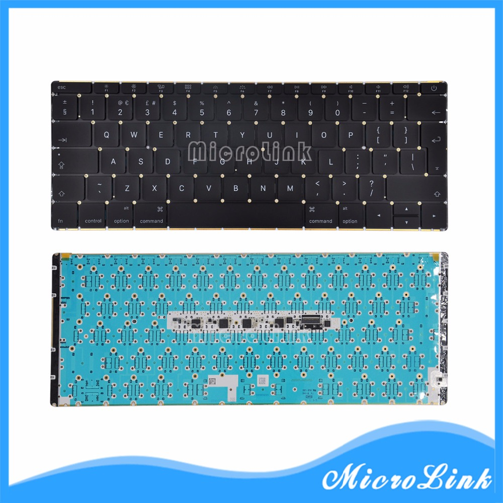 Replacement Keyboards For Mac Book Retina 12 A1534 UK Keyboard with Backlight MF855LL/A MF865LL/A Early 2015 original new a1534 keyboard for macbook 12 a1534 mf855ll a mf865ll a us standard keyboard 2015 2016 year