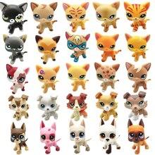 Nueva tienda de mascotas Lps de juguete de rayas cortas gato Cocker español Gran Dane Lps figura de acción clásico regalo Cosplay mejor raro