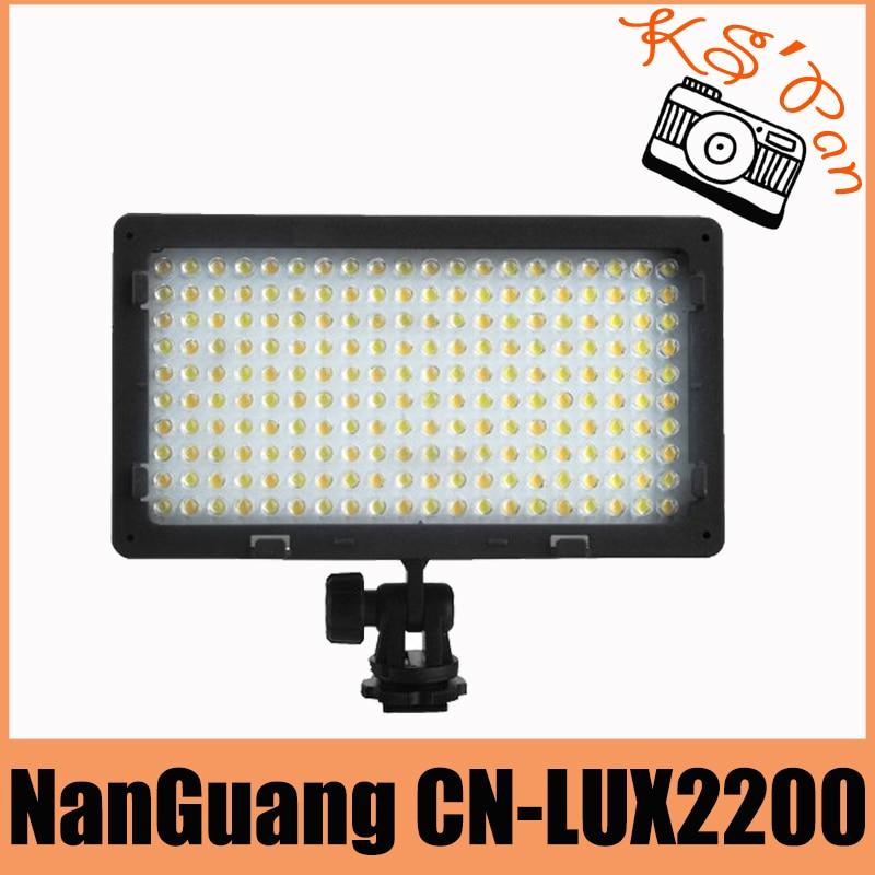 NanGuang CN-LUX2200 2200 LED Bi-Color 3200K-5400K LED Video Light Lamp For Canon Nikon Sony Camera DV Camcorder цена и фото