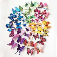 72 pçs borboletas decalques de parede 3d adesivos de parede decoração para casa cartaz para crianças quartos adesivo para decoração parede adesivo