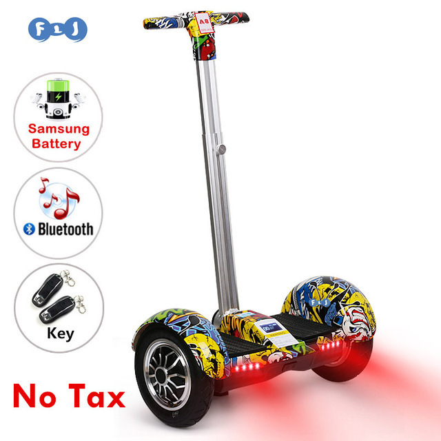 FLJ 10 дюймовый Ховерборд электроскутер self от производителя onlywheel в Китае (стандарты Интеллектуальный двухколесный Электрический скейтборд с ручкой Bluetooth Динамик