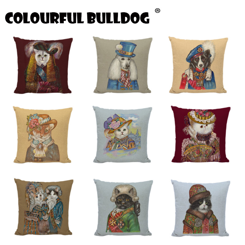 Creative Cartoon Animal Dogs Tiger High Quality Wedding Gifts Cushion Covers Baby Room Print Couch Party Decorative Pillow Cases ...