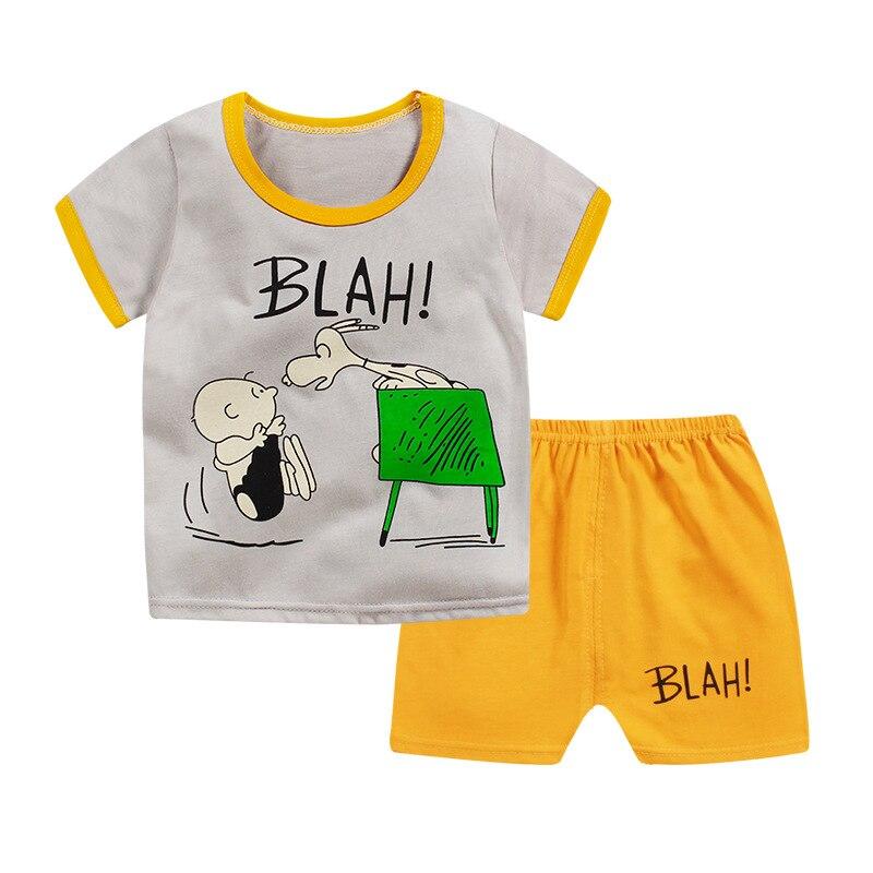 Ensemble t-shirt et short /à bandes en coton gar/çon