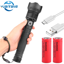 50000 lumens XLamp xhp70.2 powerful flashlight usb Zoom led T6 torch xhp70 xhp50 18650 or 26650 battery Best Camping Outdoor