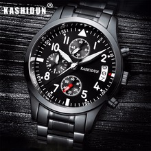Luxury Brand Fashion Men Sport Watches Men's Quartz Hour Date Clock Man Steel&Leather Strap Military Army Waterproof Wrist watch
