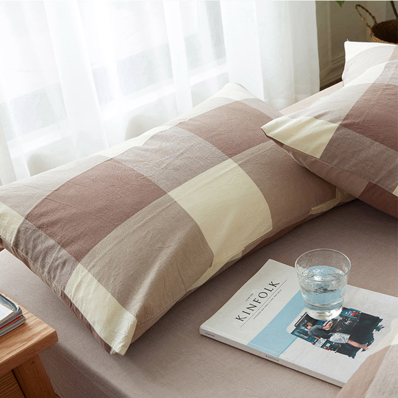 100% Cotton Pillowcase For Home Hotel Comfortable Knitting Pillow Case 2018 New Summer Quality Print Soft Pillow Cover