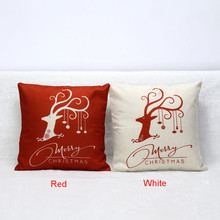 Lovely pet Free Shipping 2016 Vintage Christmas Bed Home present Festival Pillow Case Jun27